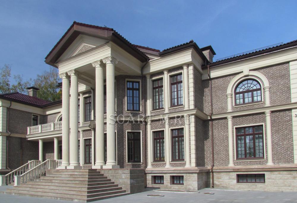 изображения дома с фасадной лепниной фото продаже загородных
